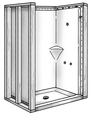 Wherever You Find A Gap Between The Wall Stud And The Shower Wall Panel,  Insert A Wood Shim Before Driving The Nail.