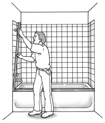 How to Install a Shower (or Tub) Door - dummies