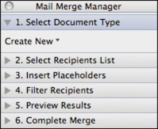 What bulk mailing documents do you want to create?