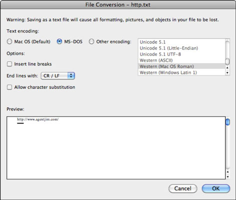 Using a Web Query to Load Tables in Excel 2011 for Mac - dummies