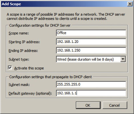 Network Administration: Installing and Configuring a DHCP