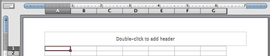 Prompt that tells you to double-click to add a header.