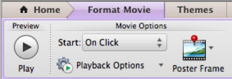 The Movie Options group in PowerPoint's Ribbon.