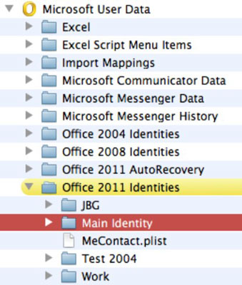 outlook identity file location mac