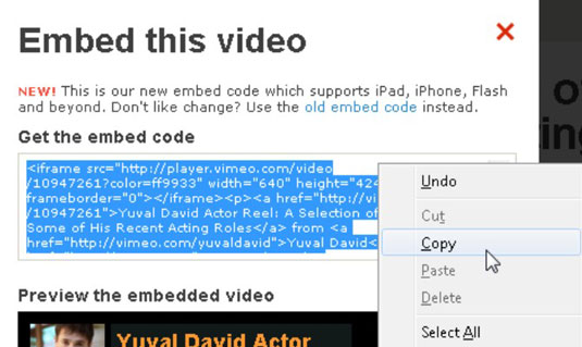 How to Embed Videos with Vimeo - dummies