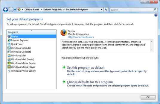 How to Set Default Browser and E-Mail Programs in Windows 7 and
