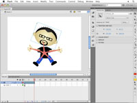 Repositioning the objects on a Flash layer to create a pose.
