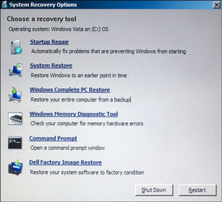 How to Get to the Recovery Console in Windows - dummies
