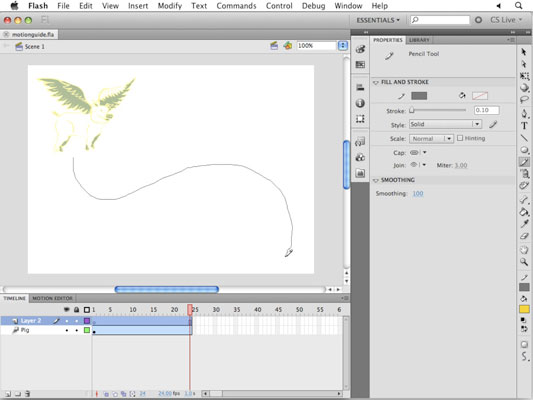 animate along a path with flash cs5 motion guides and snapping dummies rh dummies com Adobe Flash CS5 Panels Adobe Flash CS5 Tutorial