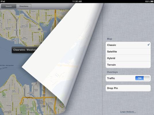 How to Change Views in iPad's Google Maps - dummies