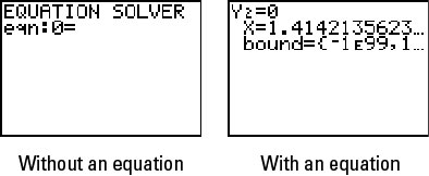 Enter an Equation in TI-84 Plus Equation Solver - dummies
