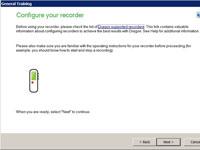 Dragon's Configure Your Recorder screen.