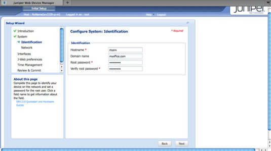 How to Configure Junos OS Devices with J-web - dummies