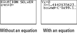 Enter or Edit Equations in TI-83 Plus Equation Solver - dummies