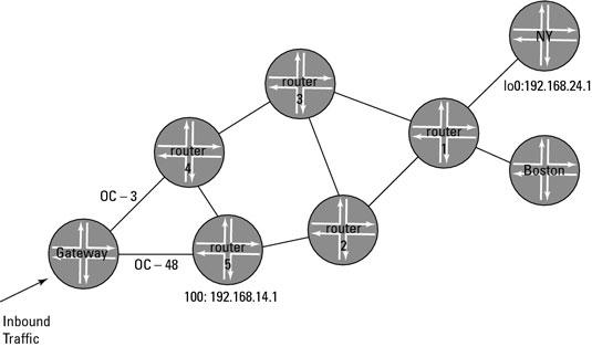ERO scenario topology.
