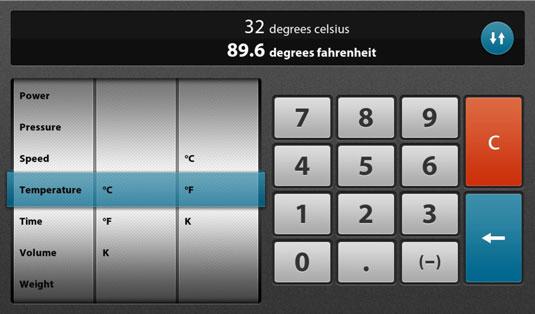 unit converter calculator app on the blackberry playbook dummies