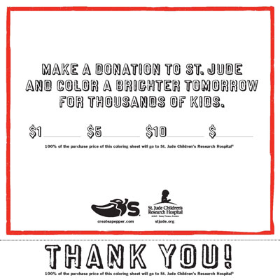 A Charity campaign that Chili's did for St. Jude's Children Hospital.
