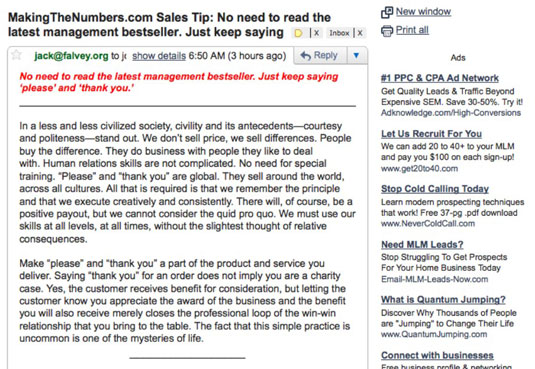 When you sign up for a sales tip, you get a free daily e-mail on topics like this one.