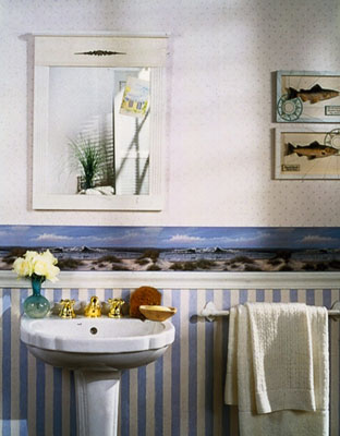 "[Credit: Photograph courtesy Blonder Wallcoverings, ""Chesapeake/Quiet Water"" ]"