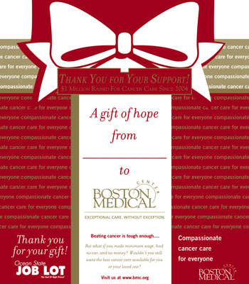 Boston Medical Center's Christmas campaign.