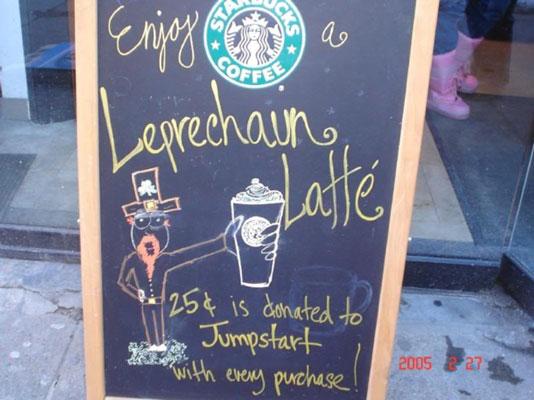 Starbucks campaign to support  Jumpstart.