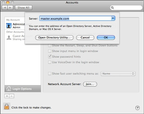unbind mac os x from domain