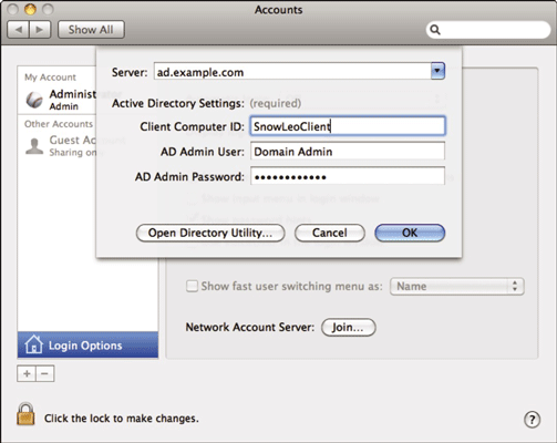 How to Bind Lion Clients and Servers to Directories - dummies