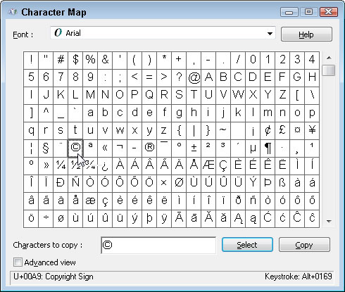 How To Insert Special Characters With Windows 7 Character Map Dummies