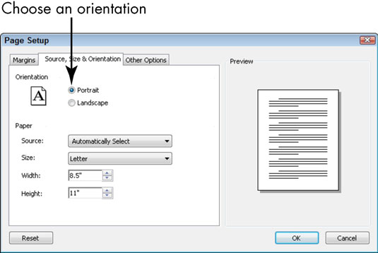 how to change page orientation in half a document