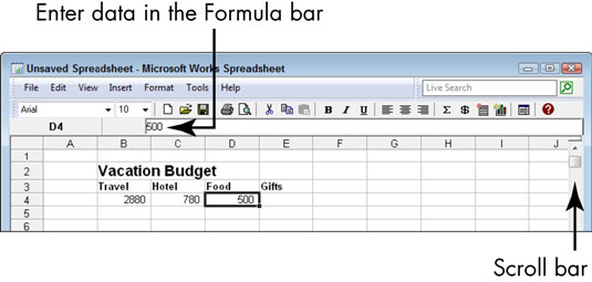 How to Create a Spreadsheet with Microsoft Works - dummies