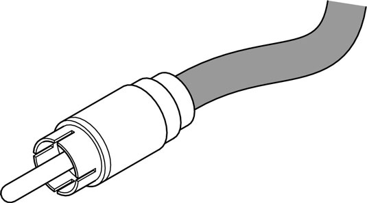 An RCA plug is used mainly on consumer stereo and some semipro audio equipment.