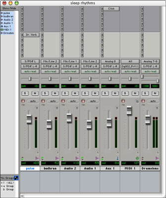 Use your mouse and computer keyboard to control a software mixer.