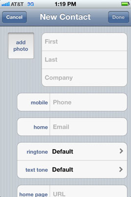 add contacts to iphone for seniors add contacts to iphone 4s dummies 13358
