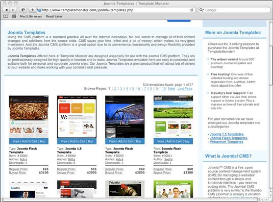 Ten Top Joomla Template Sites - dummies