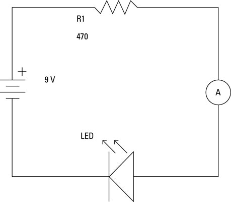 How to Measure Current on an Electronic Circuit - dummies Amp Meter Wiring Diagram Resistor on 200 amp breaker box diagram, ammeter connection diagram, amp symbol on multimeter, 400 amp service diagram, amp meter tester, 50 amp plug diagram, 2 amp hook up diagram, speaker box diagram, amp meter shunt, car amplifier install diagram, car stereo installation diagram, amp meter relay, circuit diagram, amp meters for car starters, amp meter generator, 200 amp meter base diagram, amp wire size chart, amp wire size calculator, service panel diagram, amp meter accessories,