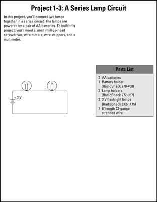 Electronics Projects How To Build Series And Parallel Circuits Dummies