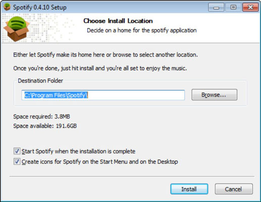 How to Download Spotify for Windows - dummies