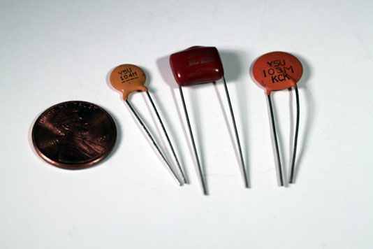 Electronics Components Sizes And Shapes Of Capacitors