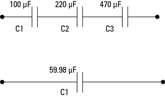 Electronics Components: Capacitors in Parallel and Series