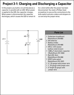 Electronics Projects: Charging and Discharging a Capacitor - dummies