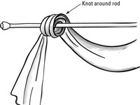 6Attach Your Draped Scarf Swag To The Rod.