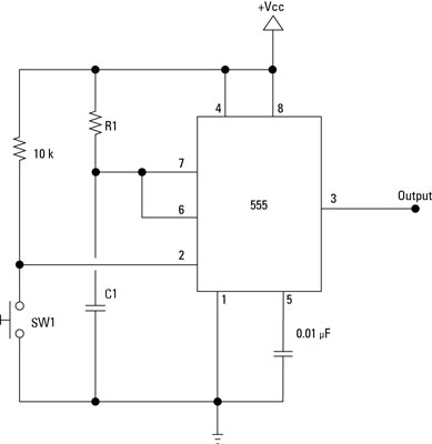 Electronics Components: 555 Timer Chip in Monostable (One ... on