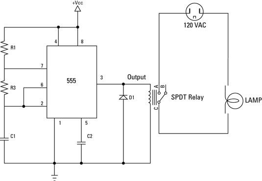 how to use relays to control electronic line voltage circuits dummies rh dummies com