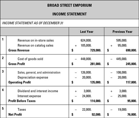 Sample business plan income statement dummies image0g wajeb Choice Image
