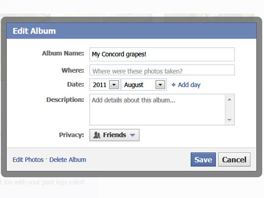 How to Add a Description to a Facebook Photo - dummies
