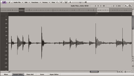The waveform editor lets you see the music, making editing pretty easy.