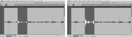 Normalizing keeps the dynamic range of the original section.
