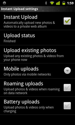Turning on Instant Upload in your Google+ settings on Android.