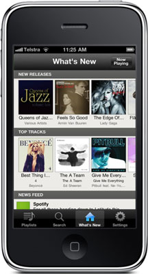 Spotify on the iPhone.