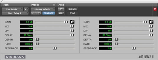A delay effect processor allows you to create various echoes.